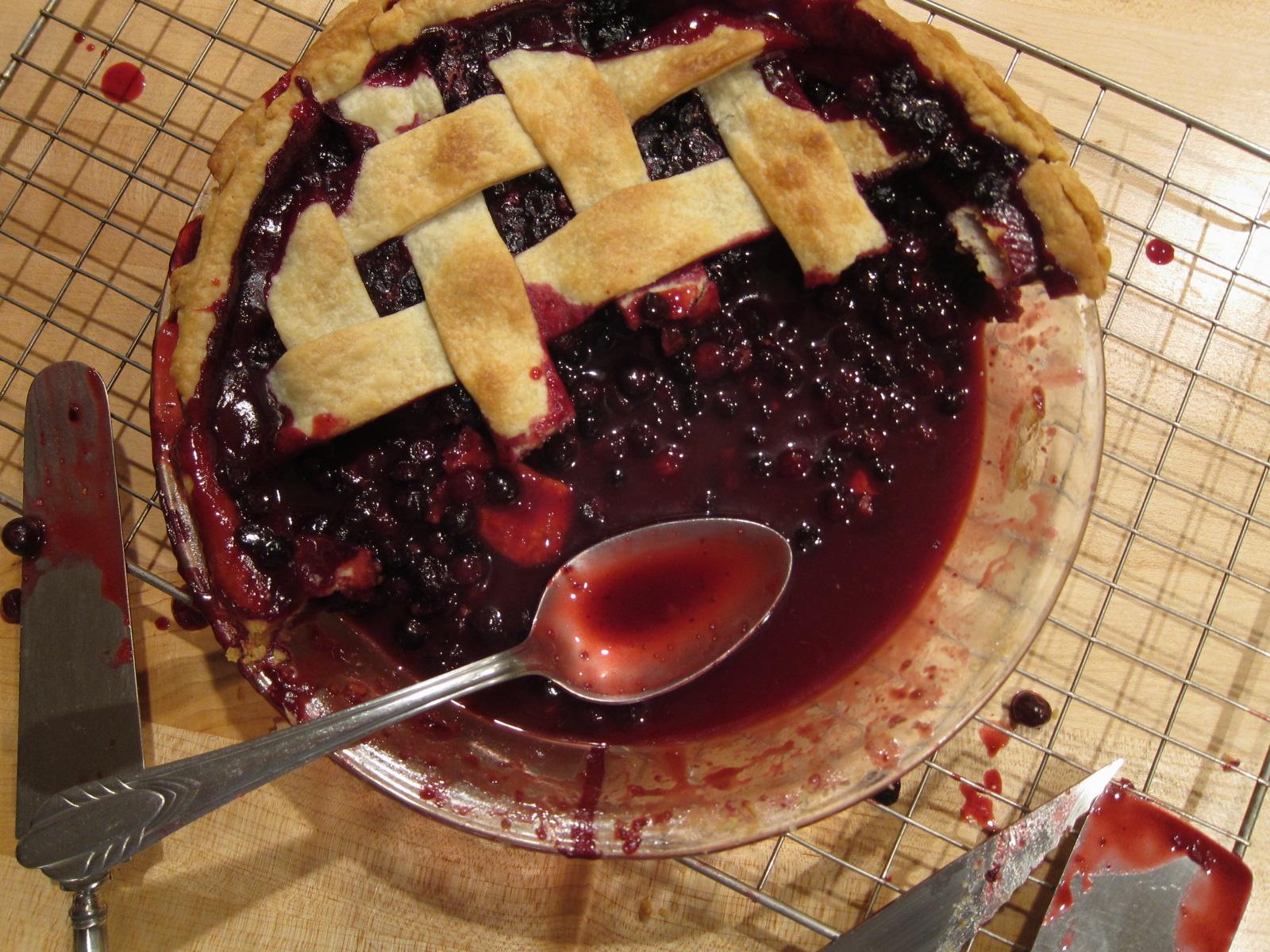 Fresh Huckleberry Pie