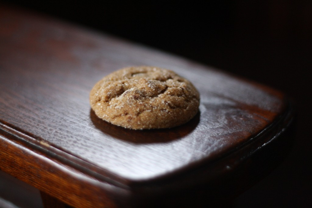 chewy ginger and chocolate chip molasses cookies