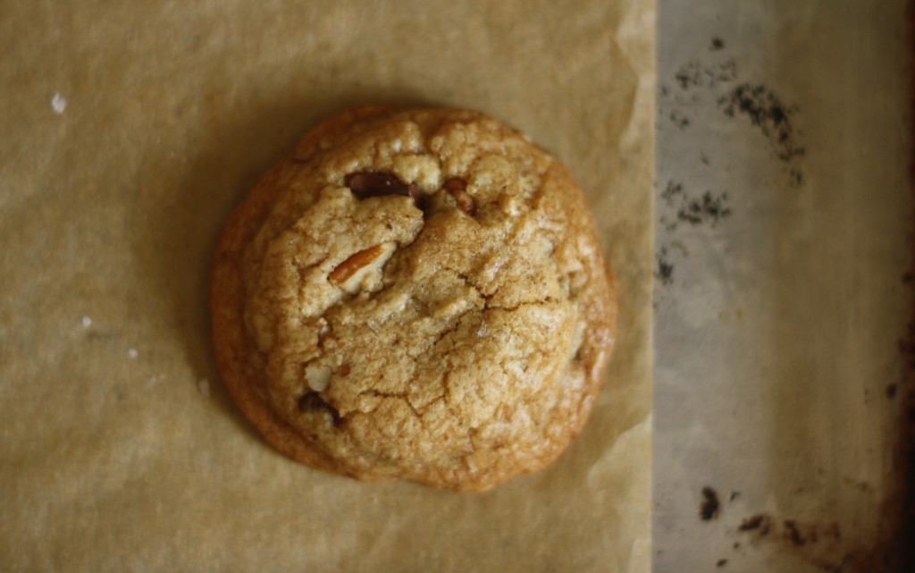 salted brown butter pecan chocolate chip cookies