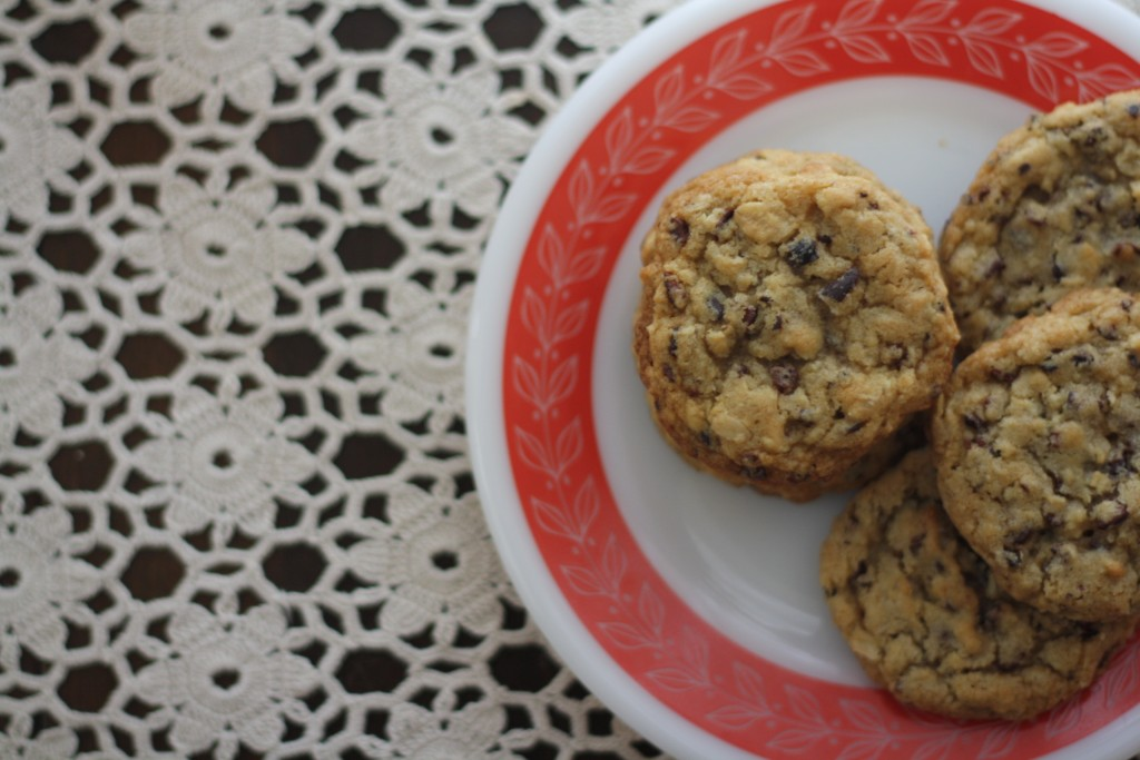 oatmeal cocoa nib cookies + hello fall giveaway