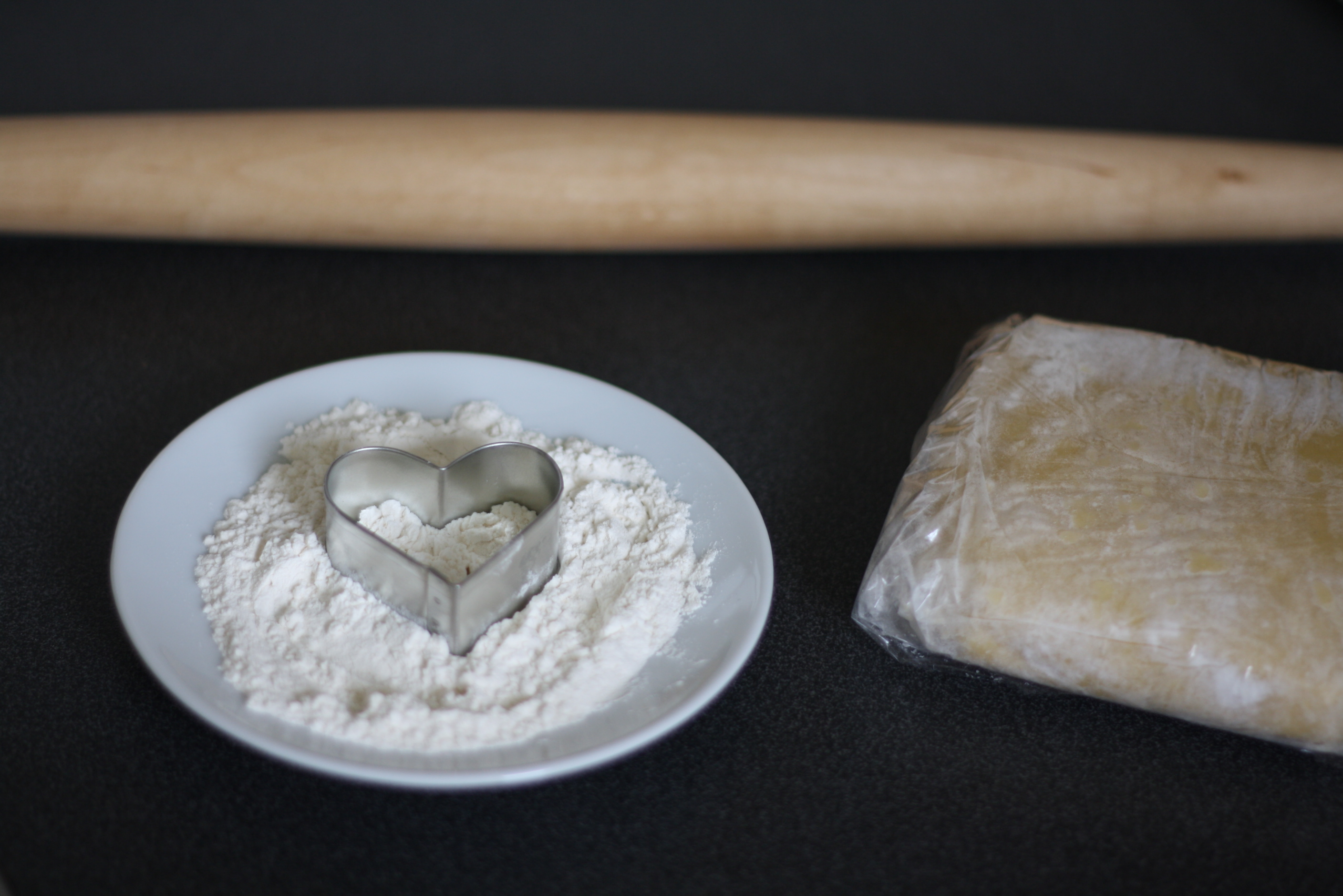 heart cookie set-up