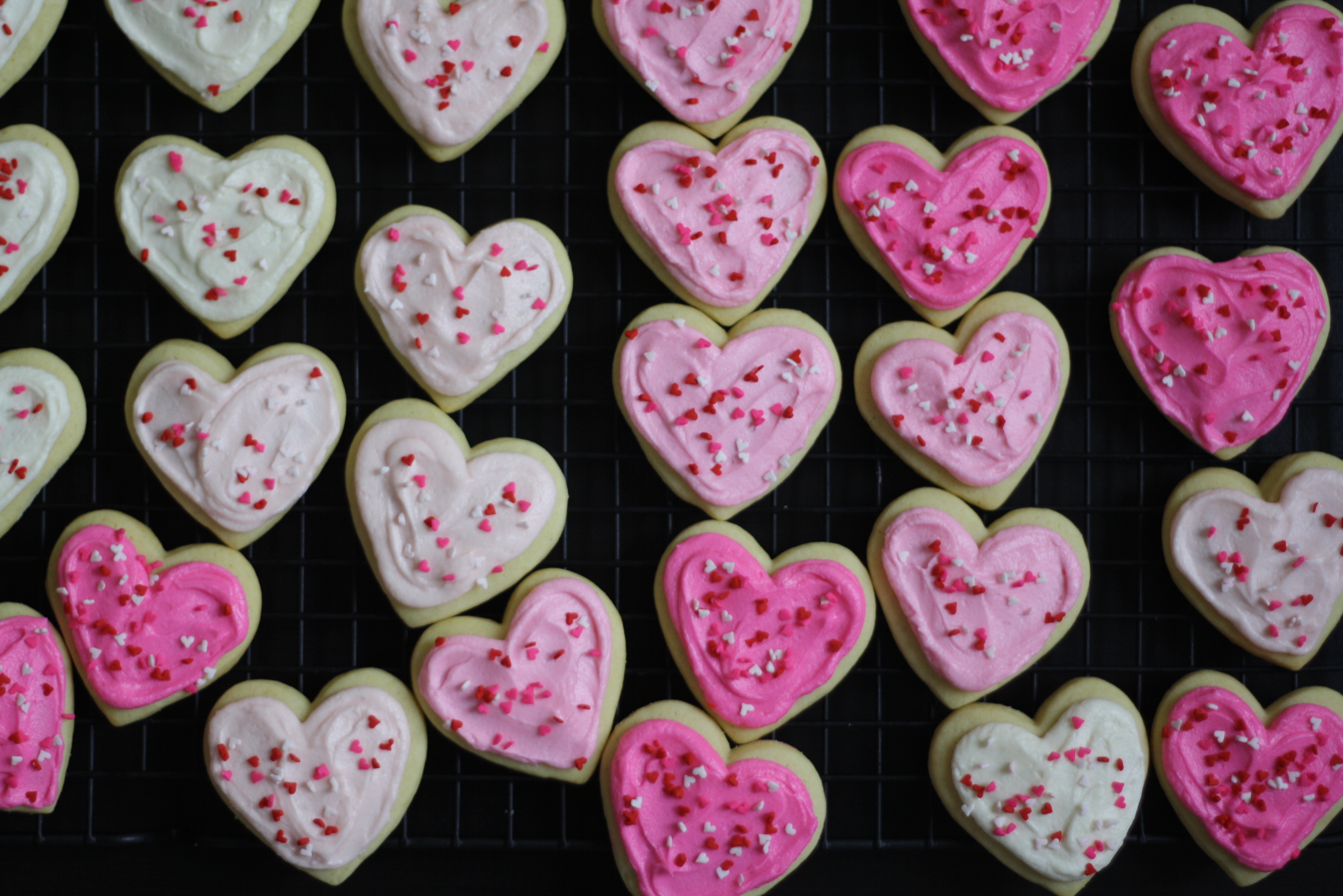 frosted heart cookies, butter me up, Brooklyn!