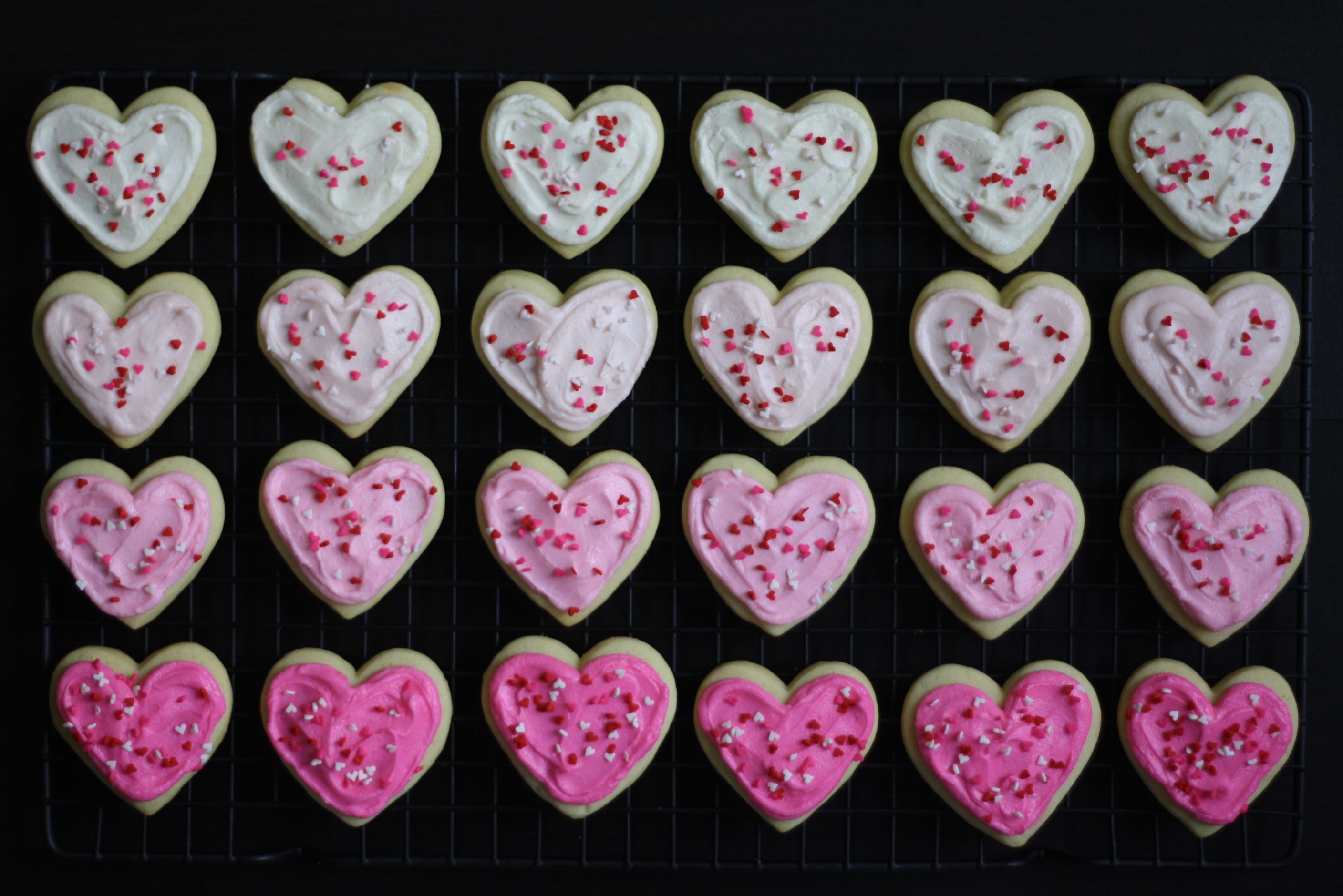 frosted heart cookies, butter me up, Brooklyn! 3