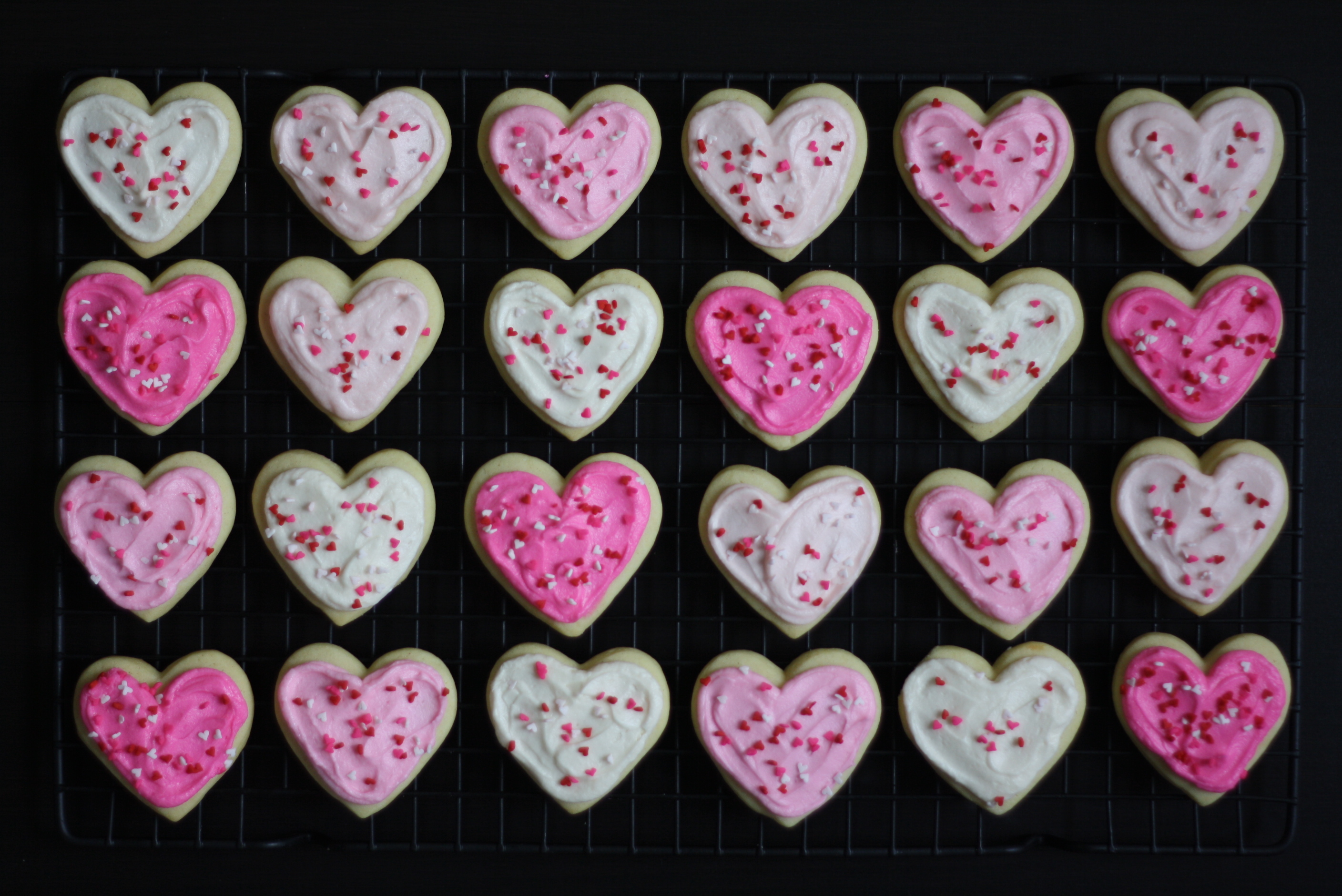 frosted heart cookies, butter me up, Brooklyn! 4