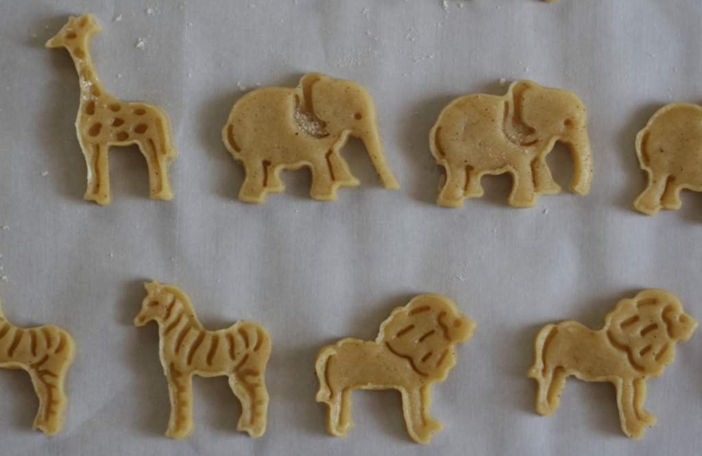 homemade pink and white animal crackers 3