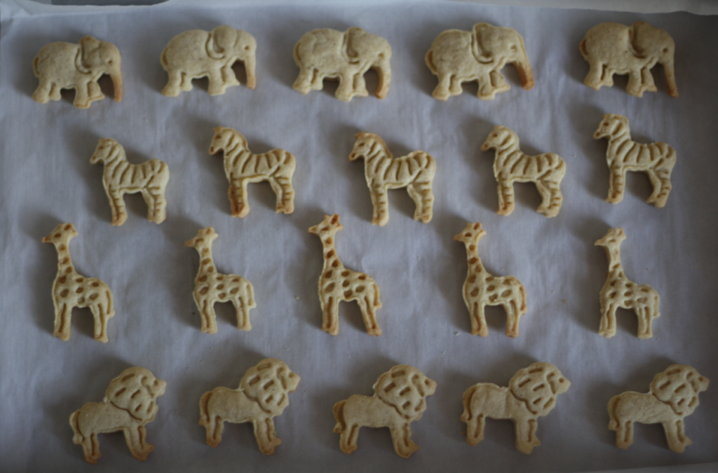 homemade pink and white animal crackers 4