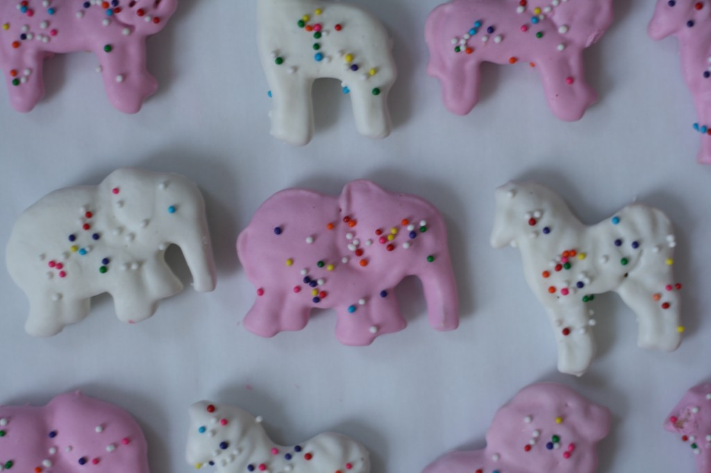 homemade pink and white frosted animal crackers 3 via butter me up, Brooklyn!