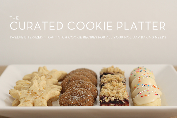 mulled wine crumble bars + The Curated Cookie Platter